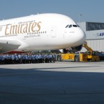 Eventstrom für Übergabe Airbus A380